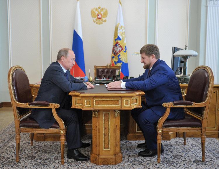 Vladimiras Putinas ir Ramzanas Kadyrovas