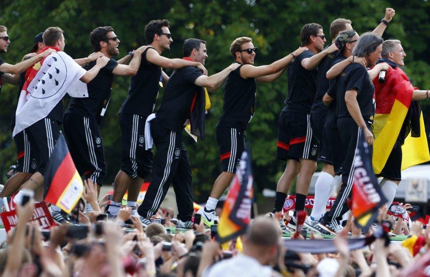 Vokietijos futbolo rinktinės sutiktuvės Berlyne