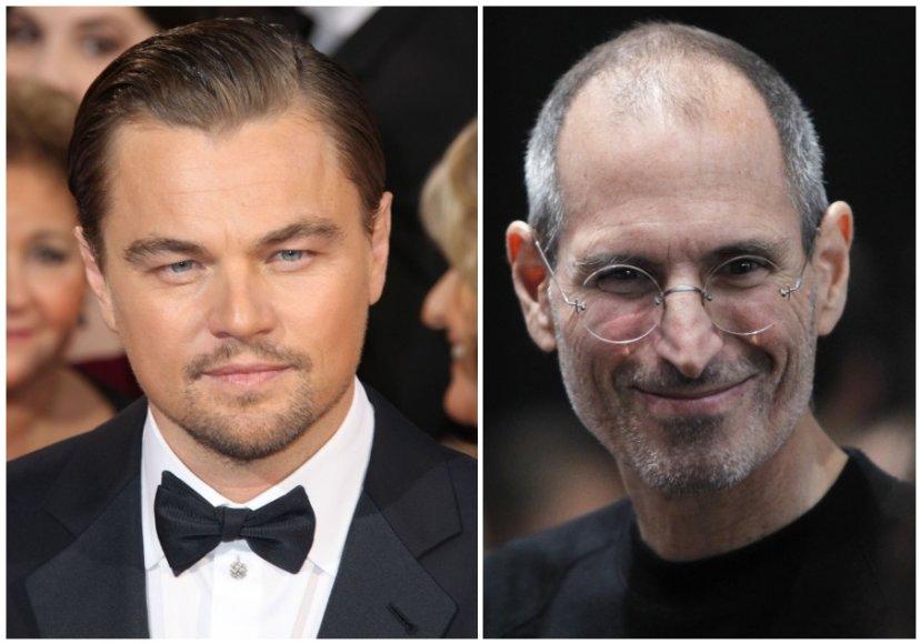 Leonardo DiCaprio ir Steve'as Jobsas