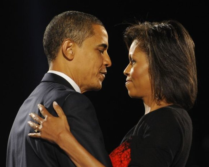 Michelle Obama su mylimu vyru