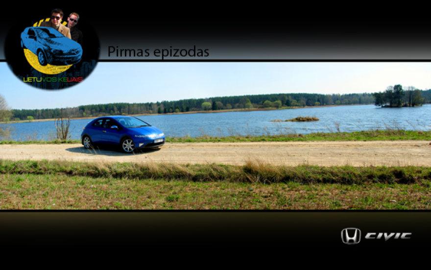 """""""Honda Civic"""" išbandyta laidos """"Lietuvos keliais""""."""