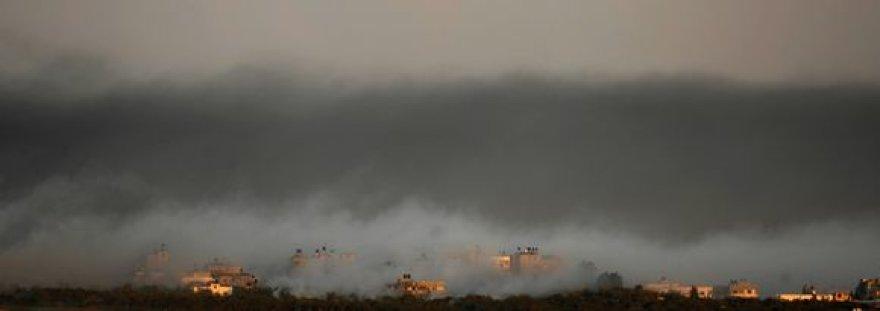 Gazos ruožas paskendęs dūmuose