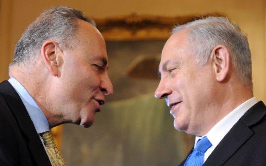 Senatorius Charlesas Schumeris ir Izraelio premjeras Benjaminas Netanyahu