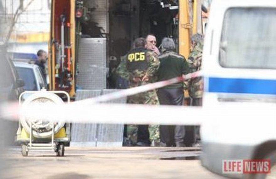FST pareigūnai Tverės milicijos skyriaus kieme