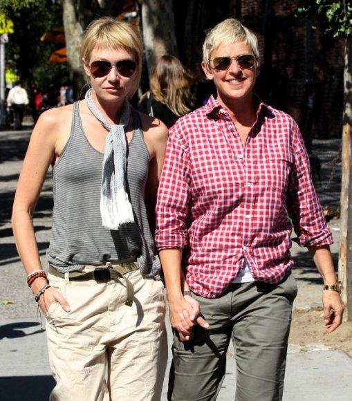 Ellen DeGeneres ir aktorė Portia de Rossi