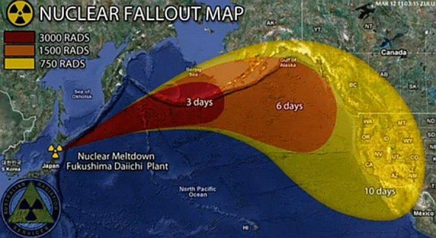 Galimo radiacijos plitimo žemėlapis
