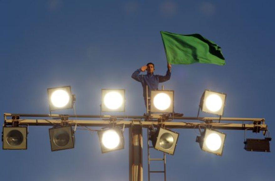 Muamaro Kadhafi šalininkas Tripolyje
