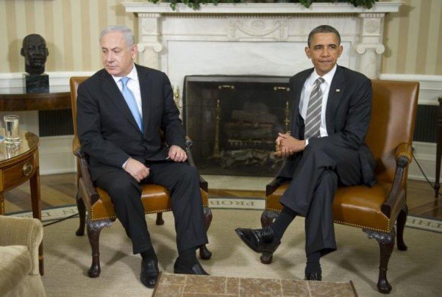 Barackas Obama ir Benjaminas Netanyahu