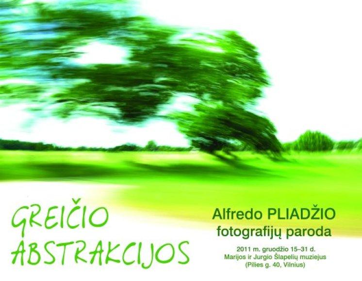 Alfredo Pliadžio parodos plakatas