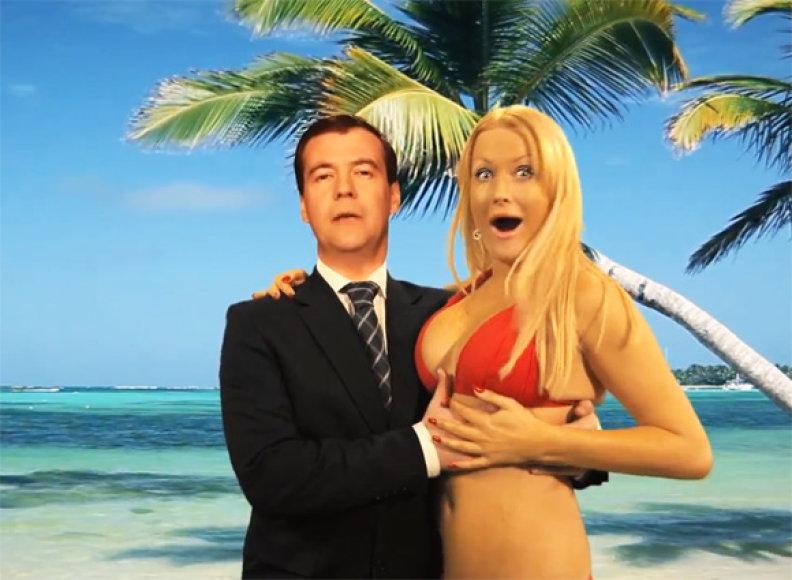 Dmitrijus Medvedevas reklamoje