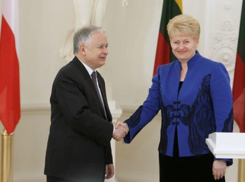 Balandžio 8 d. prezidento L.Kaczynskio vizitas