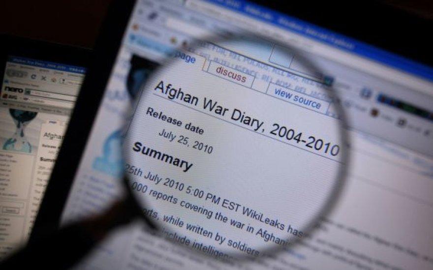 """Tinklalapio """"Wikileaks""""  medžiaga"""