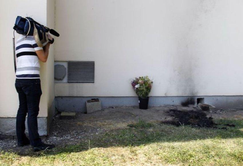 Prie Prancūzijos telekomo pastato susidegino darbuotojas