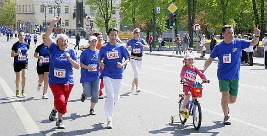Pernai akcija sulaukė daugiau nei pustrečio tūkstančio bėgikų.