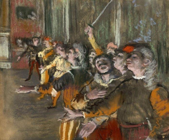 """Edgaro Degas paveikslas """"Les Choristes"""" (Choristai)"""