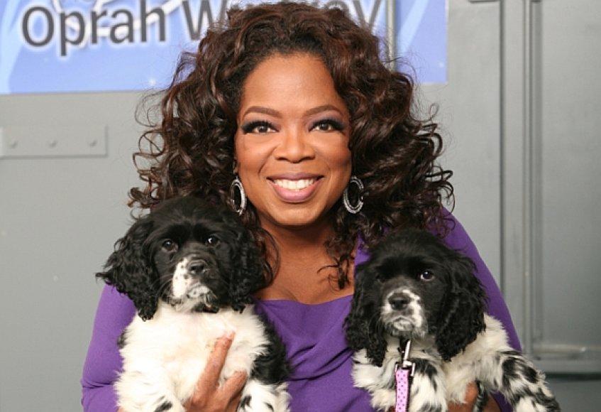 Oprah Winfrey su naujosiomis augintinėmis – Sunny ir Lauren