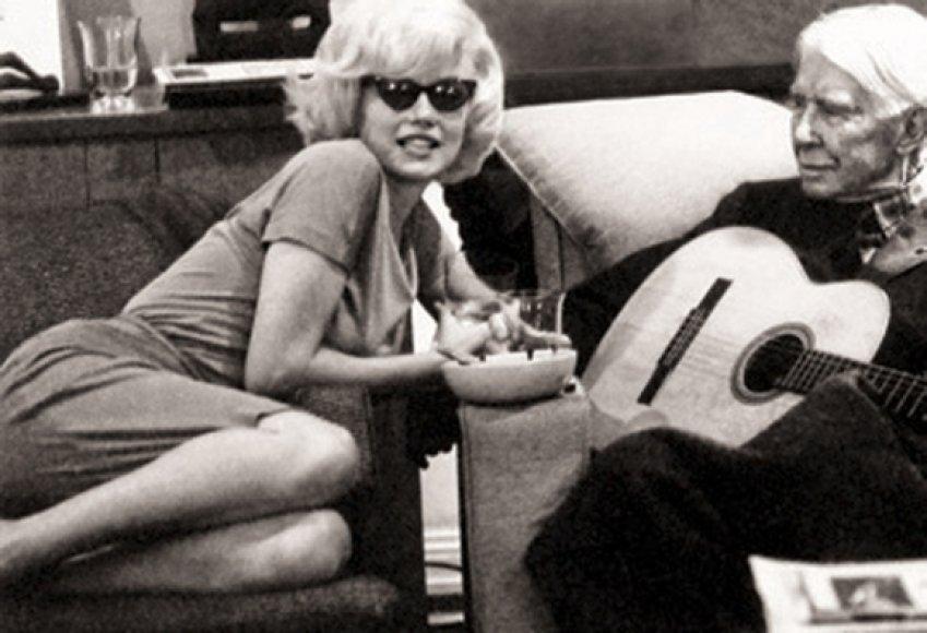 Marilyn Monroe ir Carlas Sandburgas