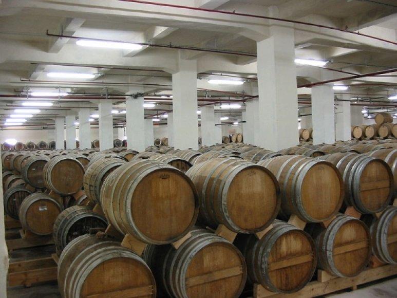 Statinės Jerevano konjako gamykloje