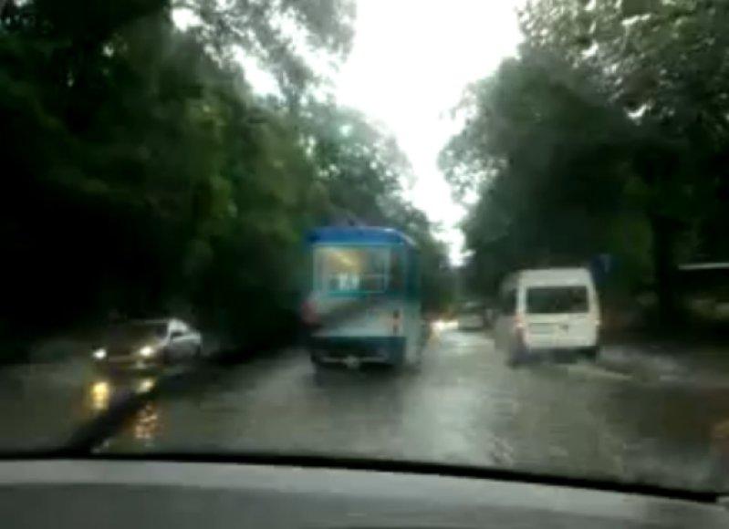 Potvynis Rygoje