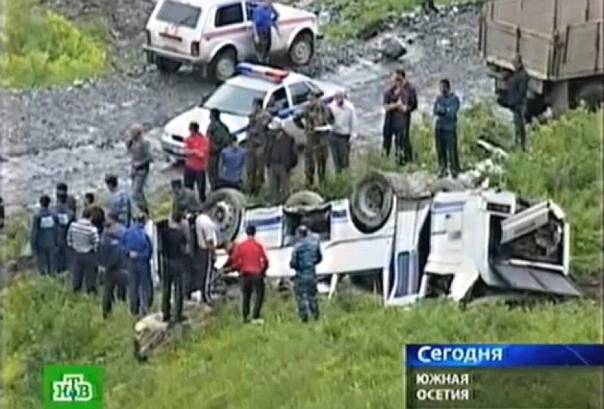 Autobuso avarija Pietų Osetijoje