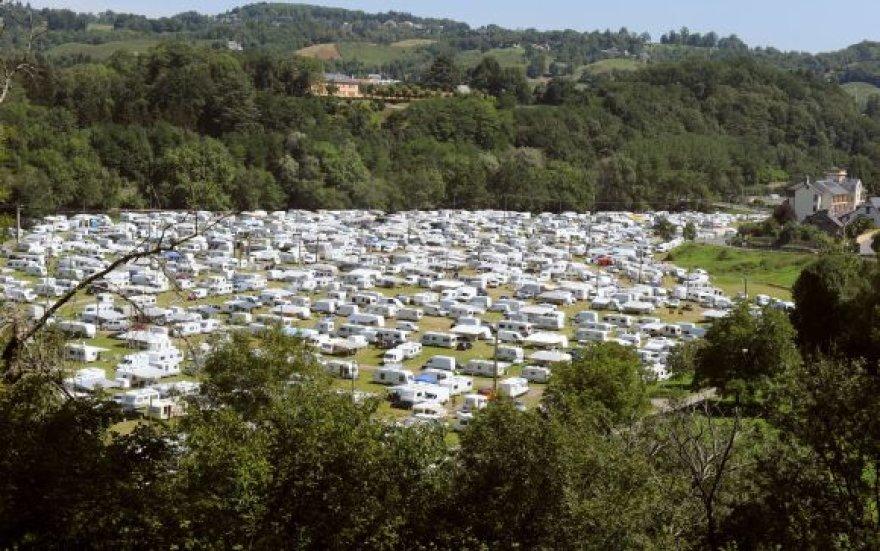 Čigonų taboras prie Lurdo