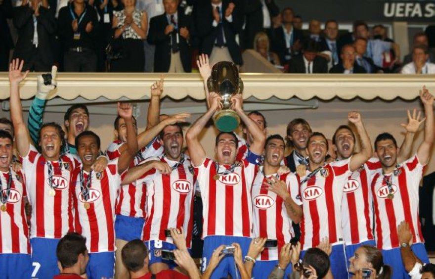 "Triumfuojantys Madrido ""Atletico"" futbolininkai"