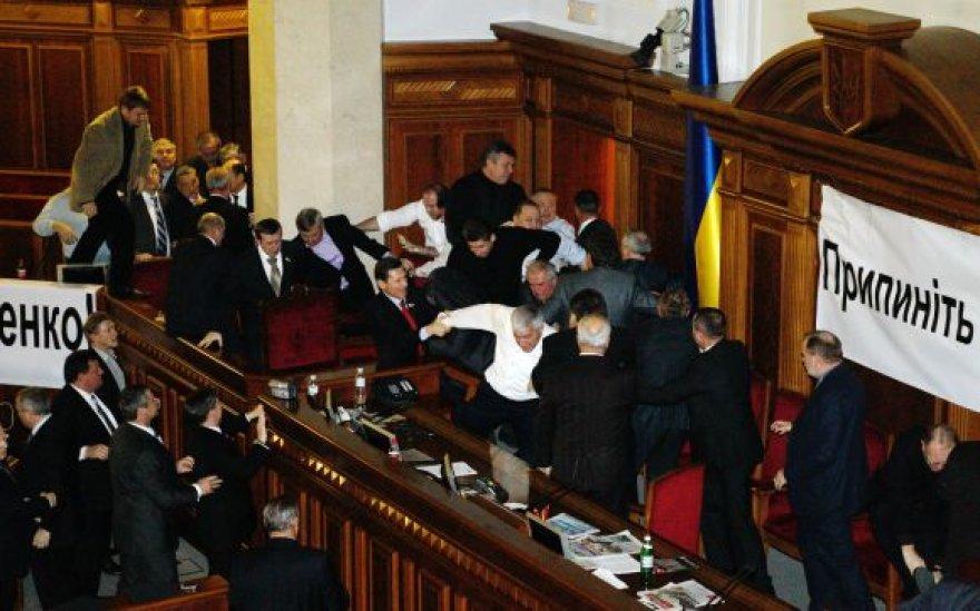 Muštynės Ukrainos Aukščiausioje Radoje