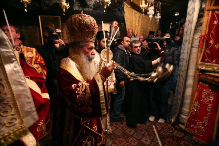 Kalėdinės stačiatikių pamaldos Jeruzalėje