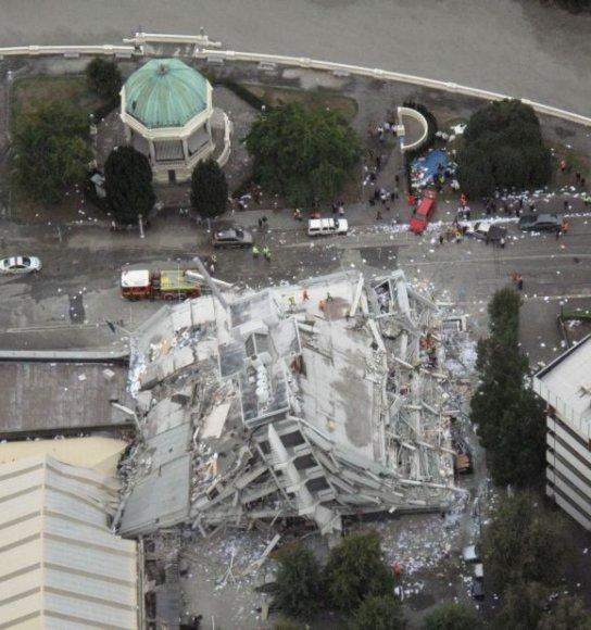 Žemės drebėjimo Kraistčerče padariniai