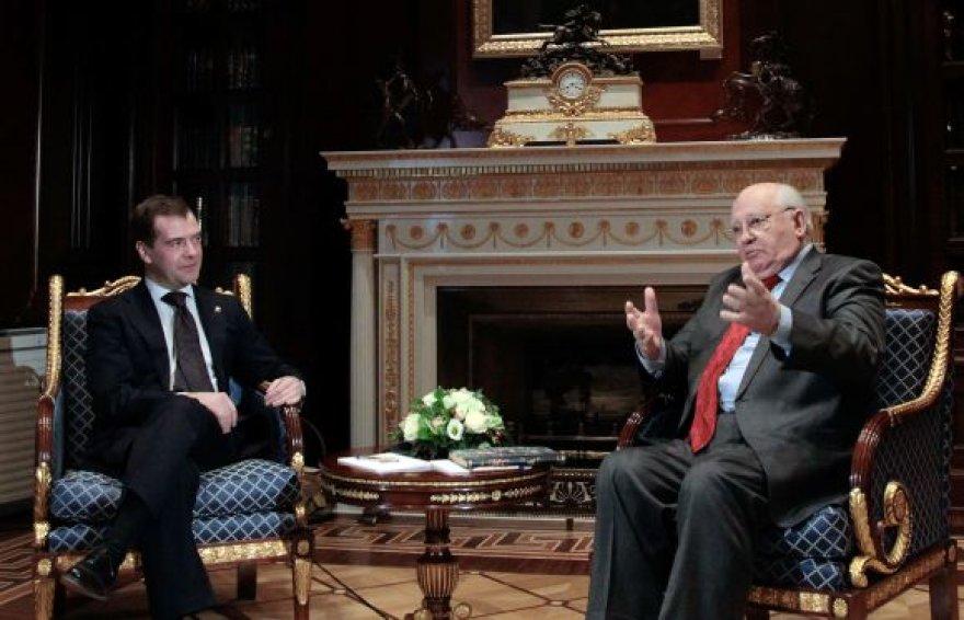 Dmitrijus Medvedevas ir Michailas Gorbačiovas