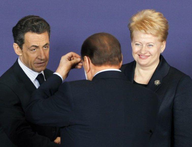 Nicolas Sarkozy, Silvio Berlusconi ir Dalia Grybauskaitė