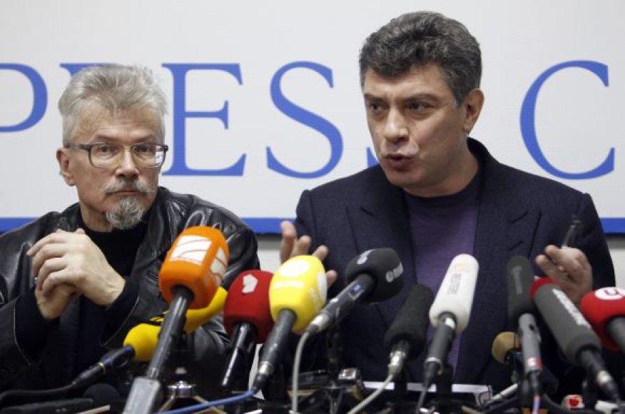 Eduardas Limonovas ir Borisas Nemcovas