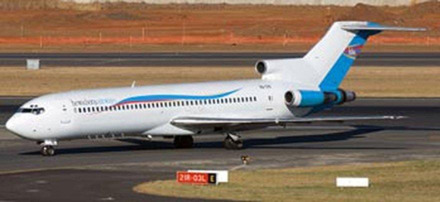 """Aviakompanijos """"Hewa Bora"""" lėktuvas """"Boeing 727"""""""