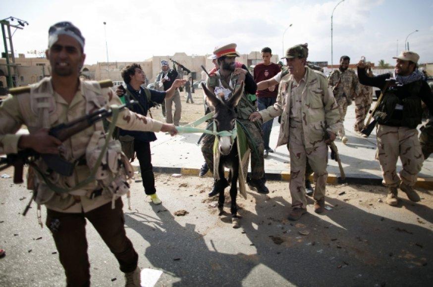 Libijos kovotojai Bani Valide