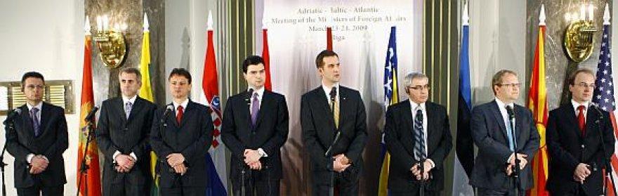 Užsienio reikalų ministrai susitiko Rygoje.