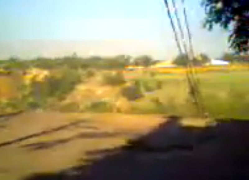 Įgriuva, užfiksuota mėgėjiška liudininko kamera