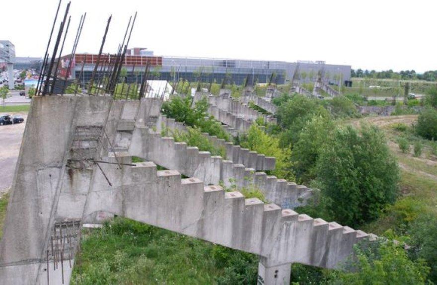 Nebaigtas statyti Nacionalinis stadionas Vilniuje.