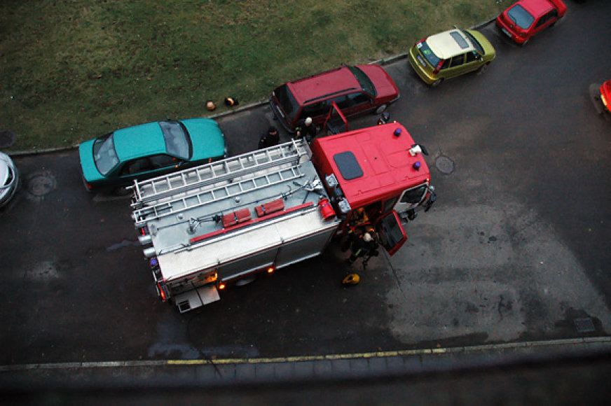 Ugniagesiai įvykio vietoje