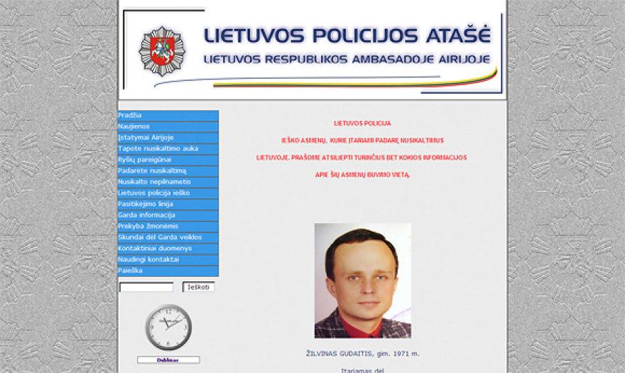 Lietuvos policijos atašė Airijoje tinklalapis