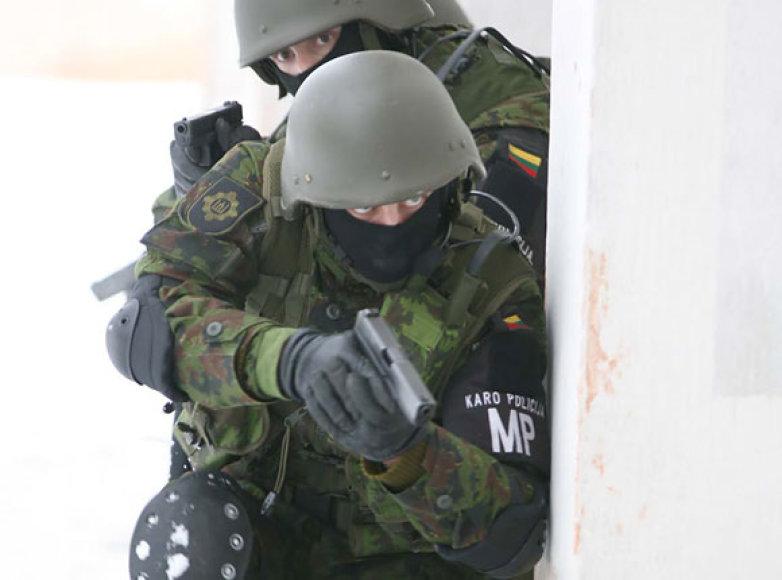 Karo policininkai šiandien