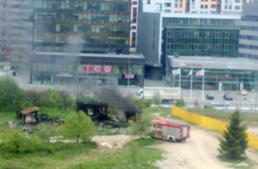 S.Neries gatvėje vėl kilo gaisras
