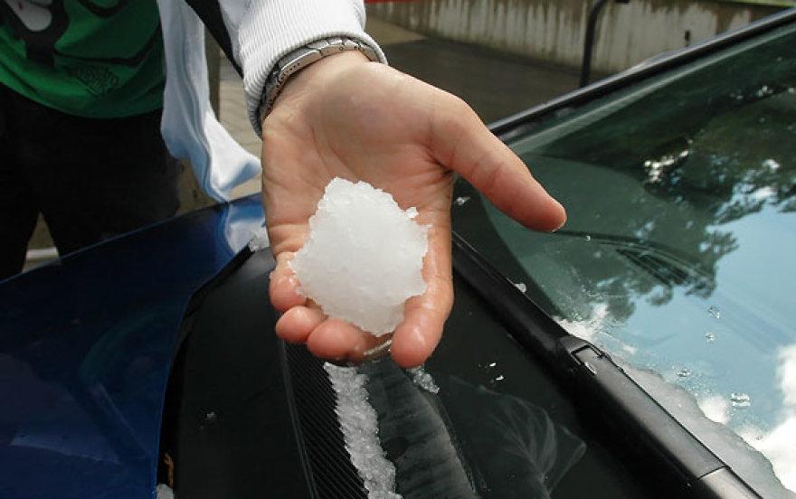 Iš tirpstančio ledo ketvirtadienį buvo galima lipdyti sniego gniūžtes