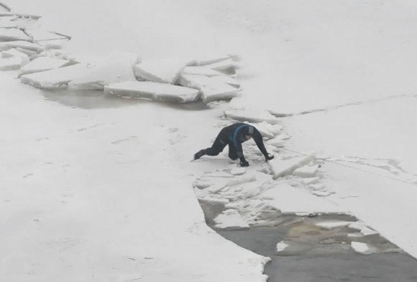 Gelbėtojas ant ledo