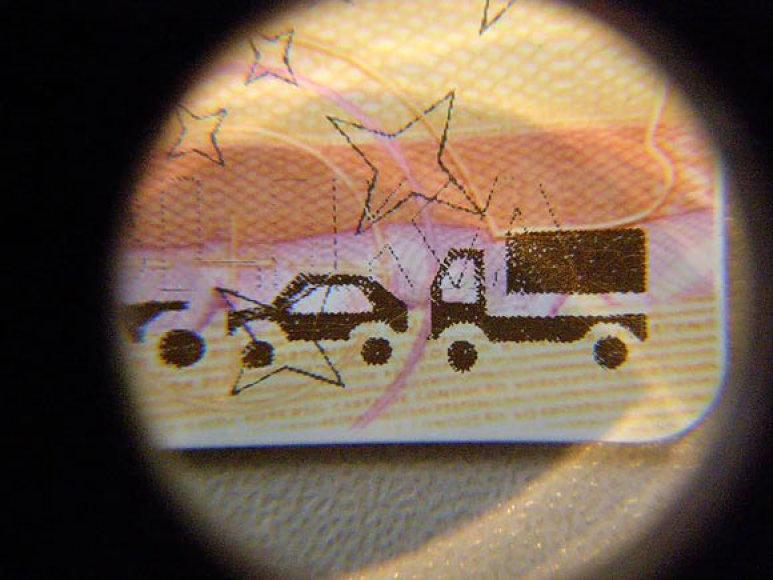 Vairuotojo pažymėjimo fragmentas