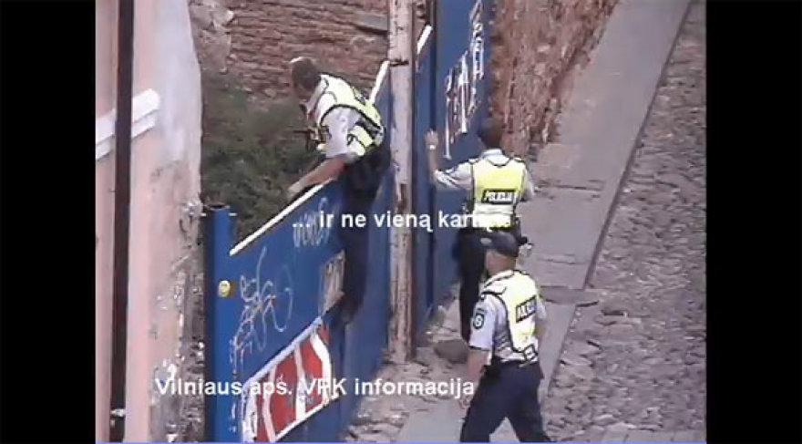 Kadras iš policijos filmuotos medžiagos