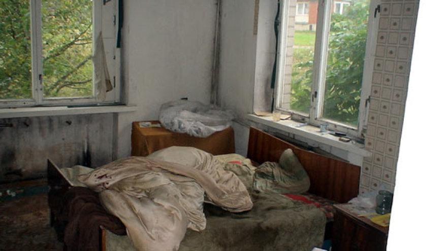 Nukentėjusio vyriškio namai paversti landyne