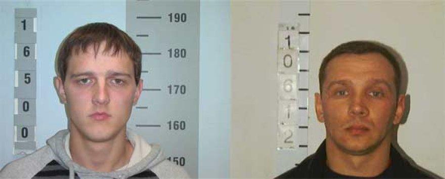Už informaciją apie šiuos du įtariamuosius policija žada atlygį