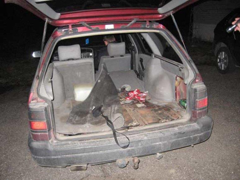 Sulaikytas automobilis