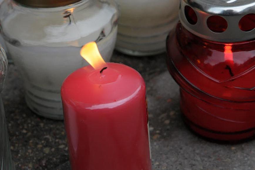 Žvakutės prie Lenkijos ambasados