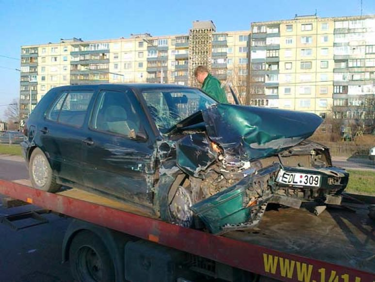 Avarijos kaltininko automobilis